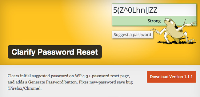 Clarify Password Reset plugin
