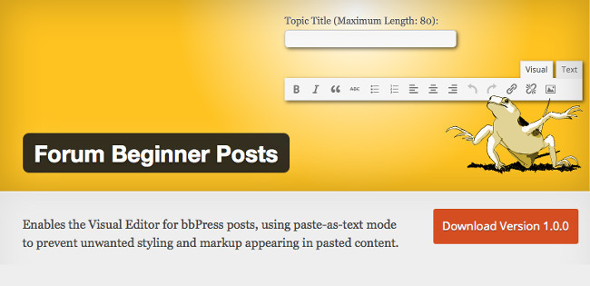 Forum Beginner Posts plugin