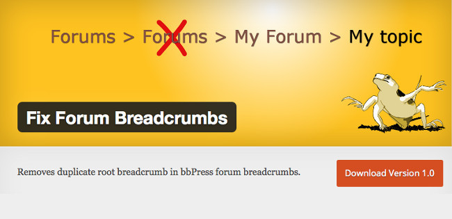 Fix Forum Breadcrumbs plugin