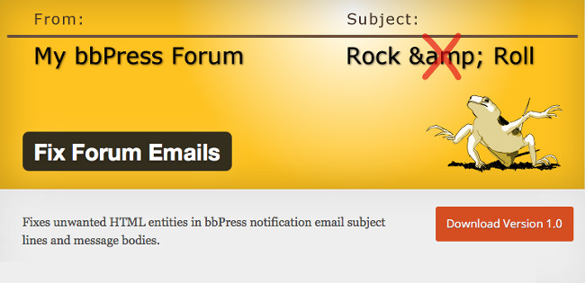 Fix Forum Emails plugin